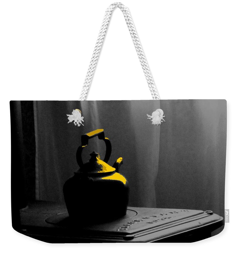 Kettle Weekender Tote Bag featuring the photograph Kettle In Isolation by Ian MacDonald