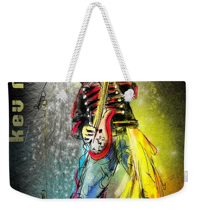 Kev Moore Portrait Weekender Tote Bag featuring the digital art Kev Moore by Miki De Goodaboom