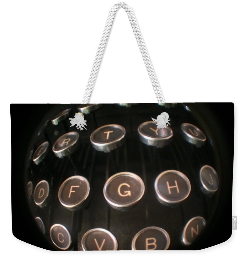 Typewriter Weekender Tote Bag featuring the photograph Key To Communication by Jeffery Ball