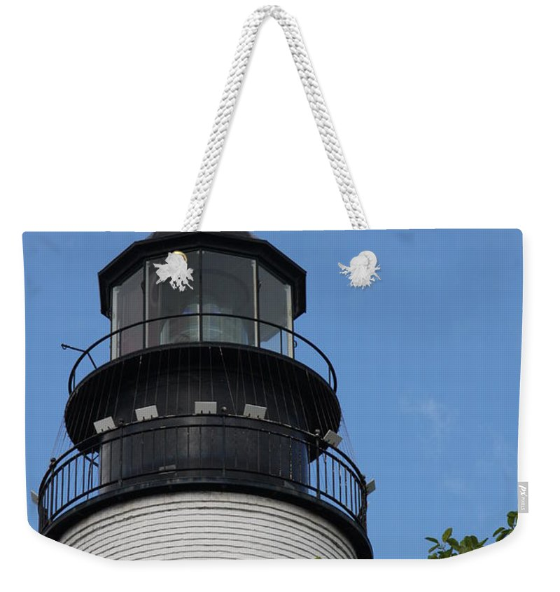 Lighthouse Weekender Tote Bag featuring the photograph Key West Light by Christiane Schulze Art And Photography