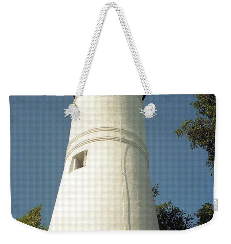 Lighthouses Weekender Tote Bag featuring the photograph Key West Lighthouse by Richard Rizzo