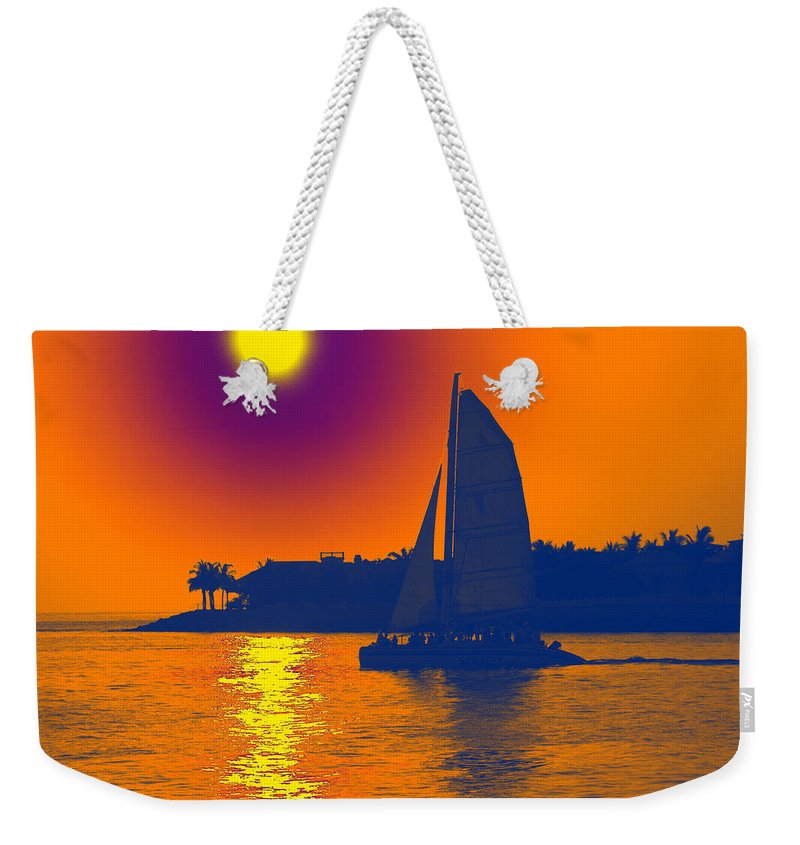 Key West Weekender Tote Bag featuring the photograph Key West Passion by Steven Sparks