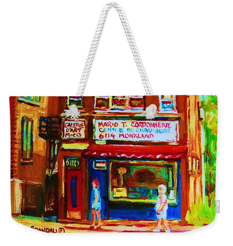 Small Cute Store Weekender Tote Bag featuring the painting Keys To The Summer by Carole Spandau