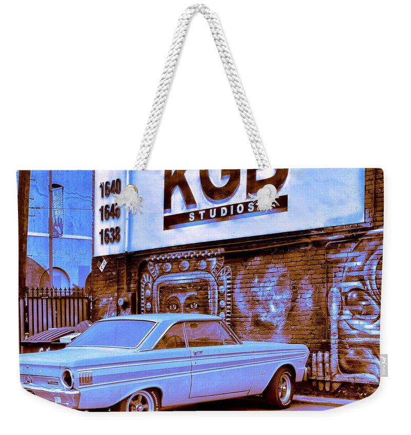 Kgb Weekender Tote Bag featuring the photograph K G B Studios Los Angeles by Dominic Piperata