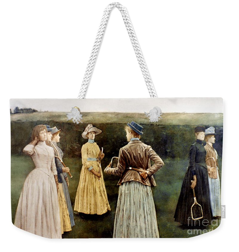 1889 Weekender Tote Bag featuring the photograph Khnopff: Memoires, 1889 by Granger