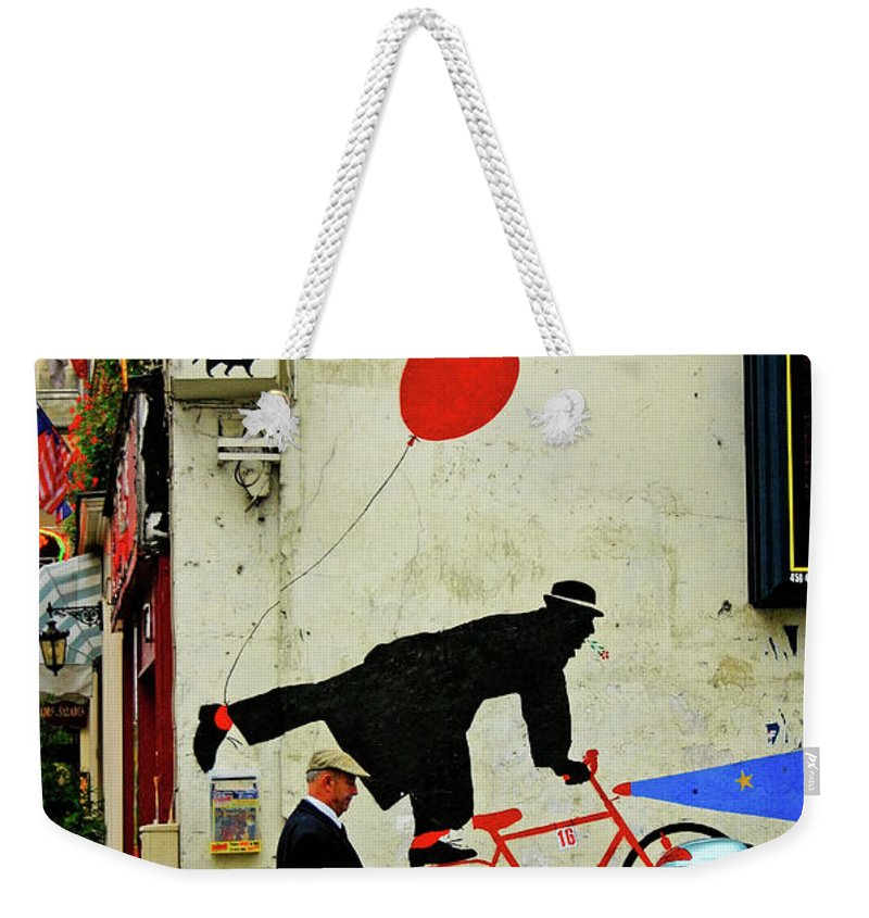 Paris Weekender Tote Bag featuring the photograph Kick In The Head by Skip Hunt