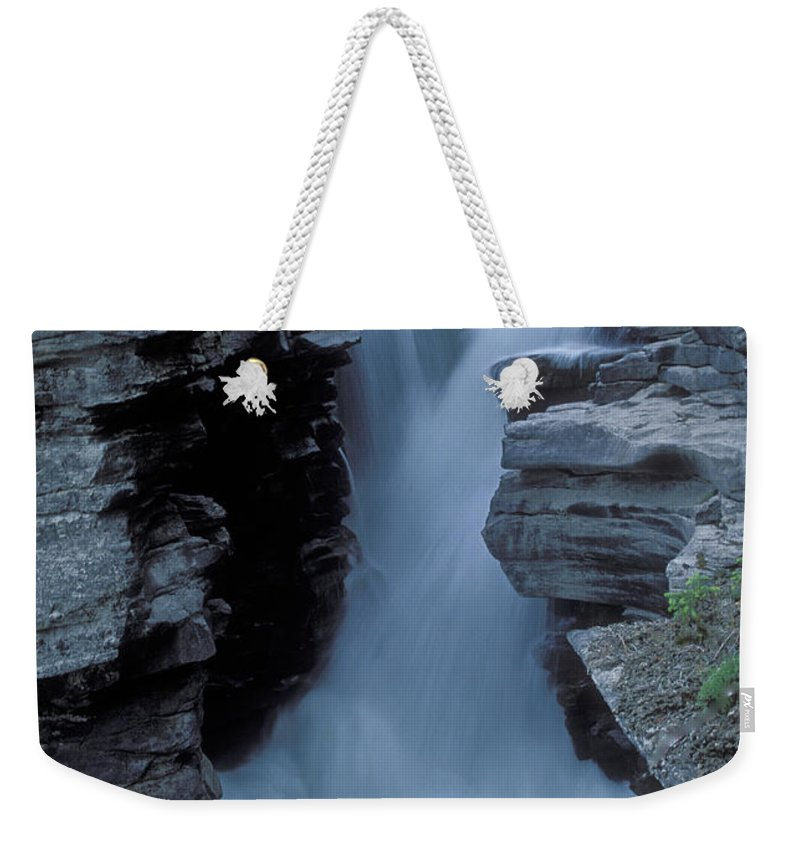 Kicking Horse River Weekender Tote Bag featuring the photograph Kicking Horse River by Sandra Bronstein