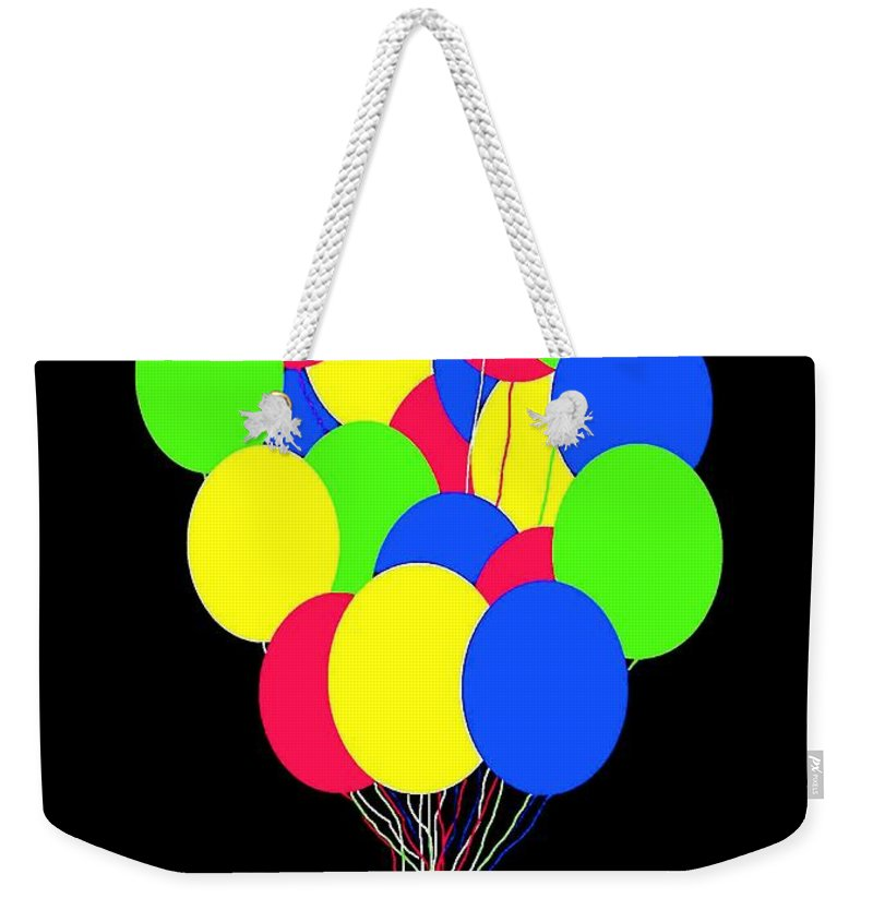 Balloons Weekender Tote Bag featuring the digital art Kids Korner Balloons by Will Borden