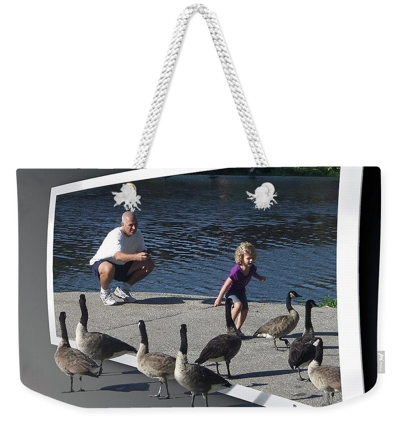 2d Weekender Tote Bag featuring the photograph Kids Will Be Kids 2 by Brian Wallace