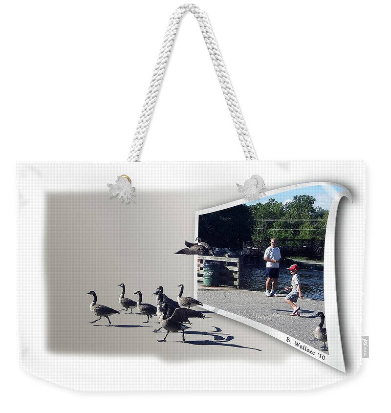 2d Weekender Tote Bag featuring the photograph Kids Will Be Kids by Brian Wallace