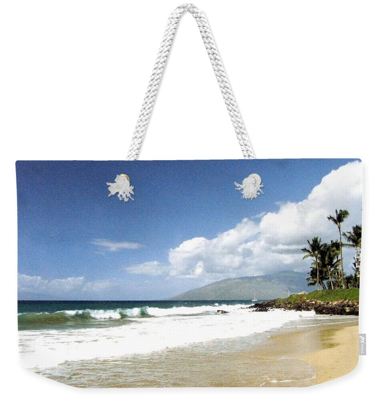 1986 Weekender Tote Bag featuring the photograph Kihei by Will Borden