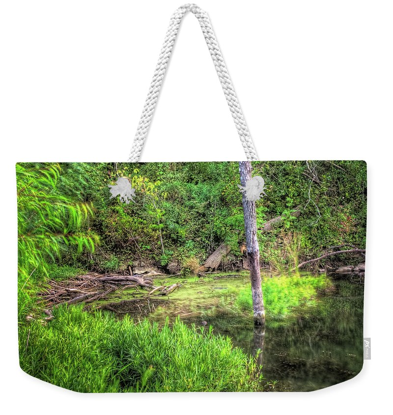 Hdr Weekender Tote Bag featuring the photograph Kill Creek 8388 by Timothy Bischoff