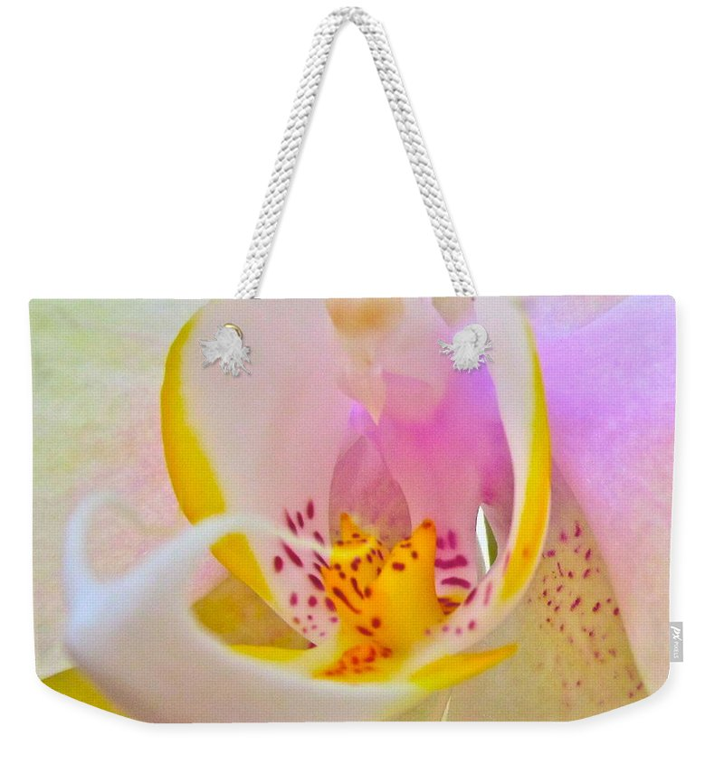 Photograph Of Orchid Weekender Tote Bag featuring the photograph Killing Me Softly by Gwyn Newcombe