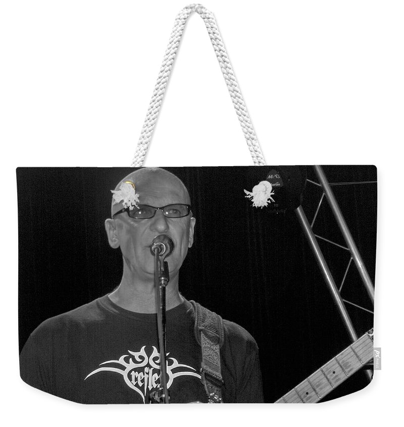 Kim Mitchell Band Rock And Roll Music Concerts Star Lead Singer Weekender Tote Bag featuring the photograph Kim Mitchell by Andrea Lawrence