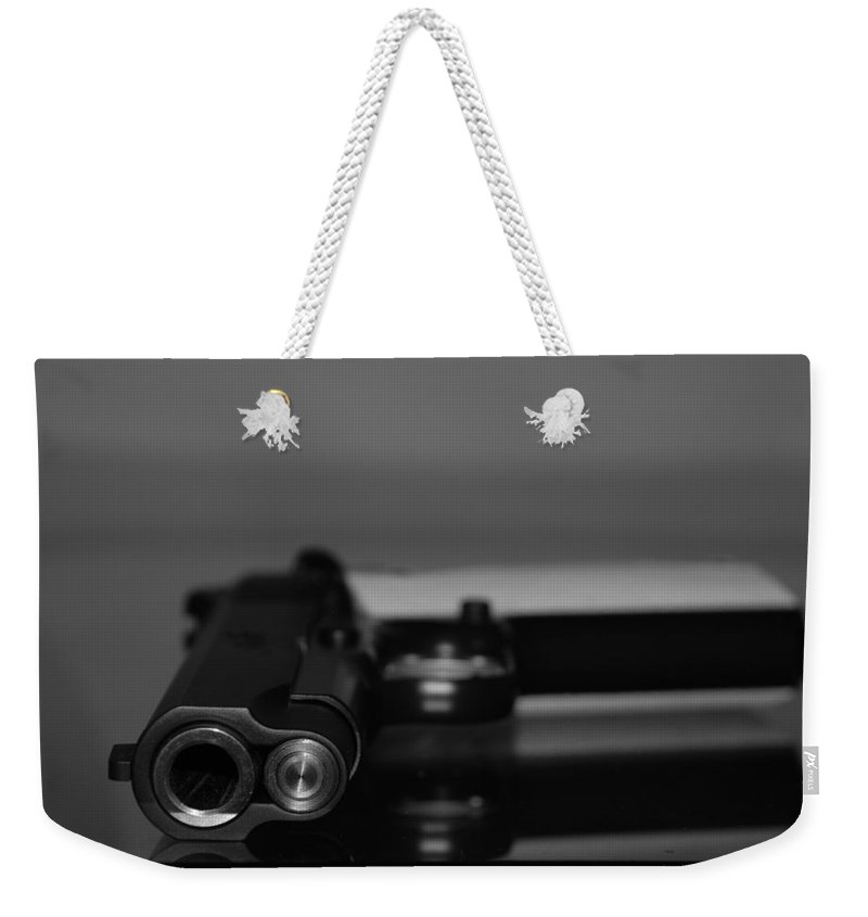45 Auto Weekender Tote Bag featuring the photograph Kimber 45 by Rob Hans