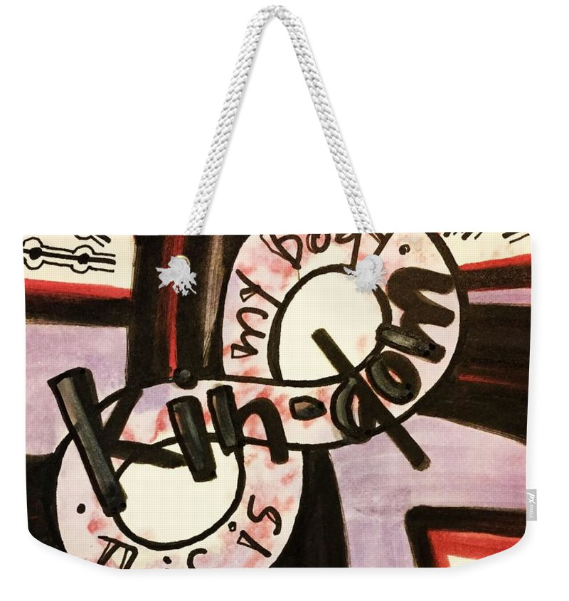 Kindom Weekender Tote Bag featuring the painting Kin-dom by Vonda Drees