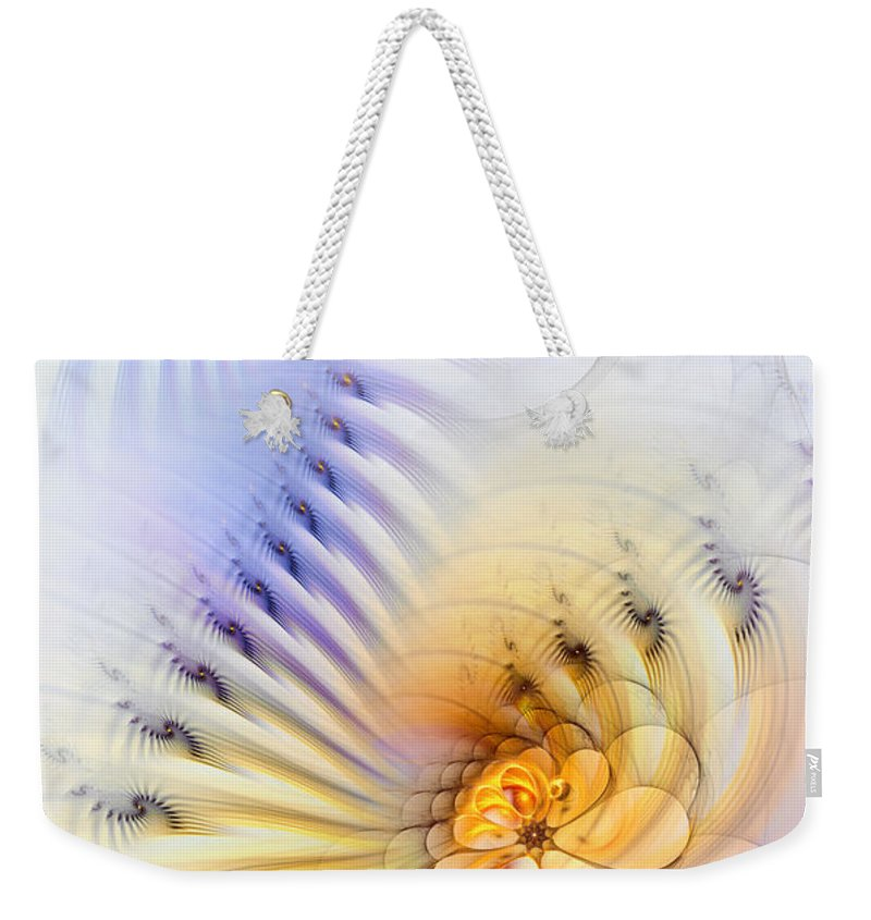 Abstract Weekender Tote Bag featuring the digital art Kinetic Pantomime by Casey Kotas