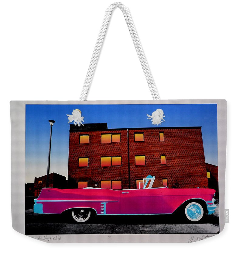 Weekender Tote Bag featuring the photograph King Elvis Has Surely Come by Charles Stuart