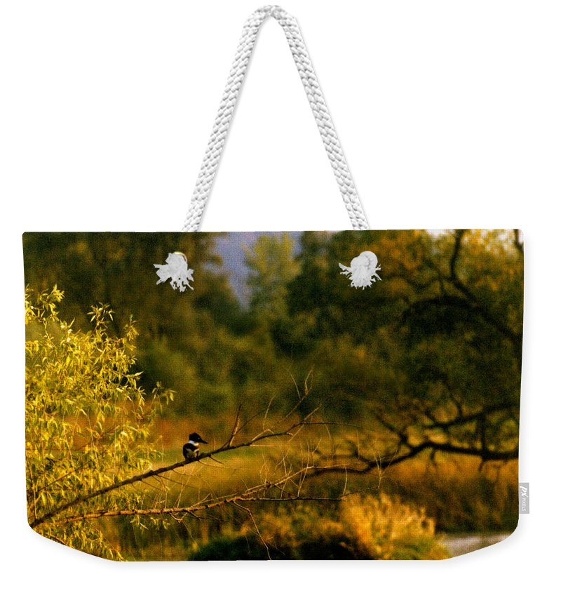 Landscape Weekender Tote Bag featuring the photograph King Fisher by Steve Karol