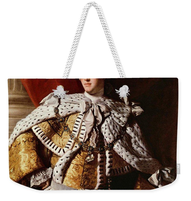 King Weekender Tote Bag featuring the painting King George IIi by Allan Ramsay