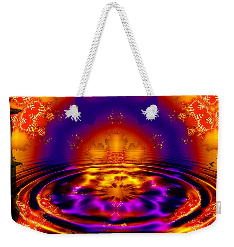 Wave Weekender Tote Bag featuring the digital art King James by Robert Orinski