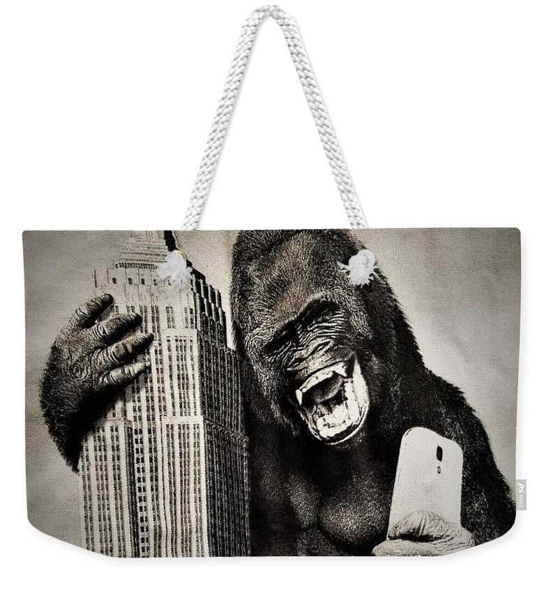 Architecture Weekender Tote Bag featuring the photograph King Kong Selfie by Rob Hans