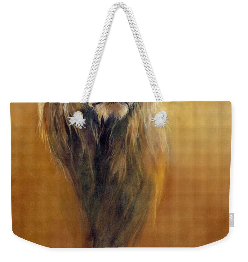 Lion Weekender Tote Bags