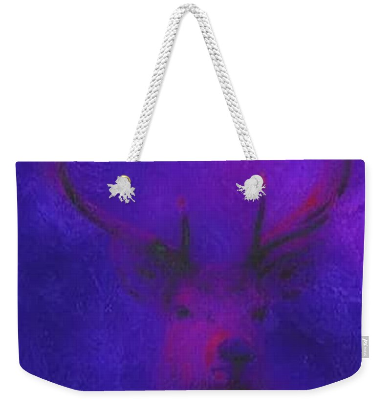 Landscape Weekender Tote Bag featuring the digital art King Of The Forest by Tina-Marie Art addiction