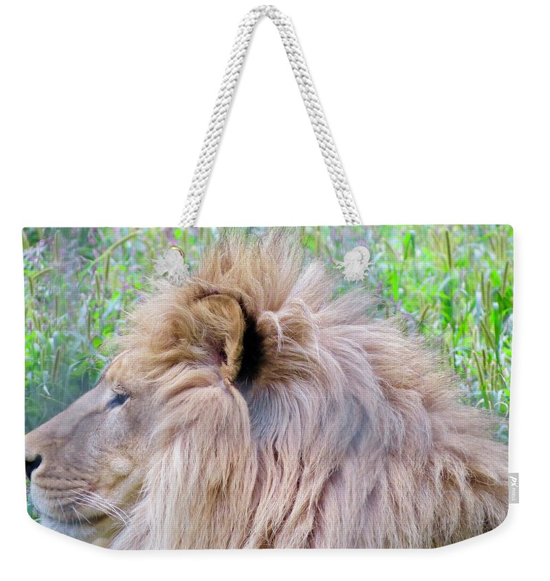 King Weekender Tote Bag featuring the photograph King Of The Jungle Profile by Kenneth Summers