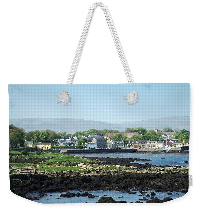 Irish Weekender Tote Bag featuring the photograph Kinvara Seaside Village Galway Ireland by Teresa Mucha