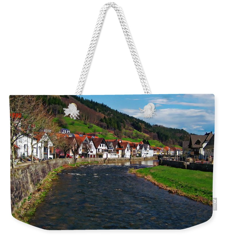Germany Weekender Tote Bag featuring the photograph Kinzig River by Anthony Dezenzio