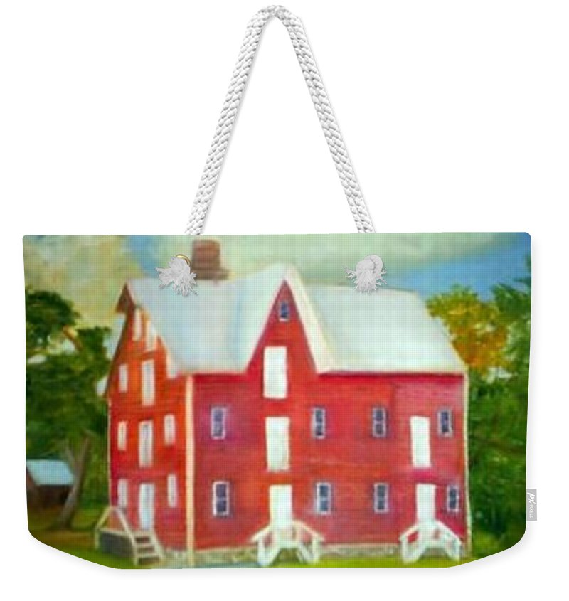 Kirby Mill Weekender Tote Bag featuring the painting Kirby's Mil by Sheila Mashaw