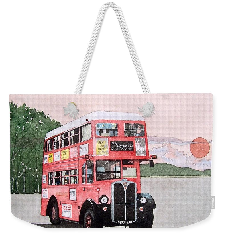 Bus Weekender Tote Bag featuring the painting Kirkland Bus by Gale Cochran-Smith
