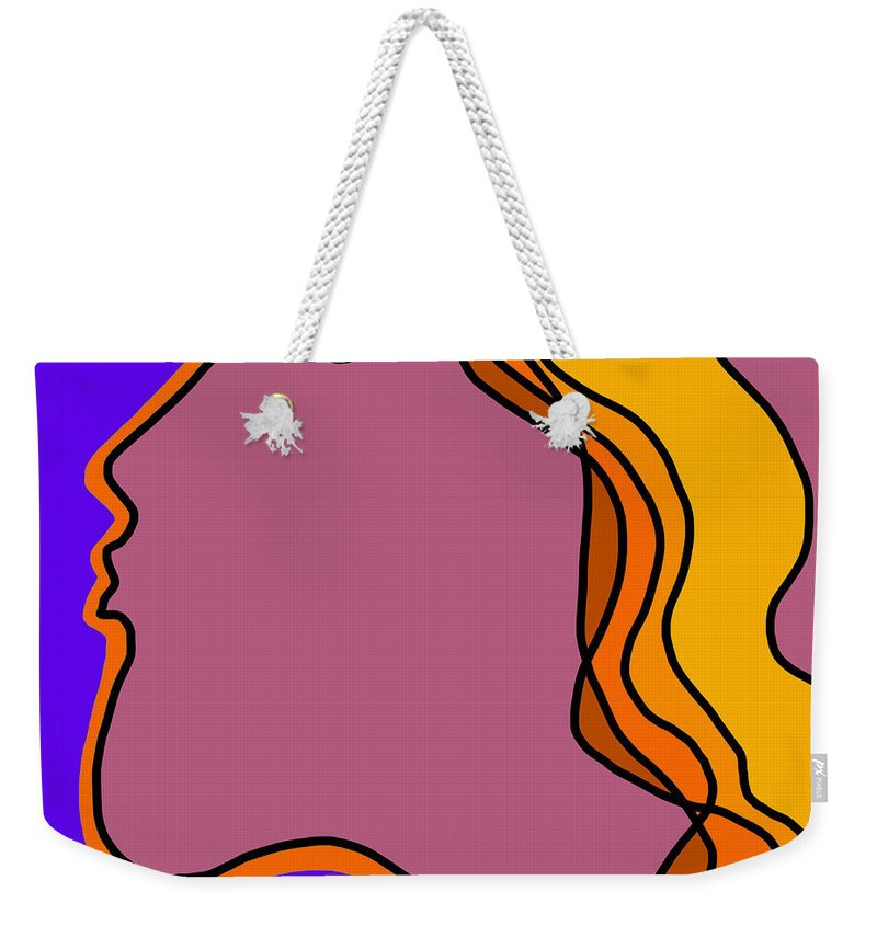 Quiros Weekender Tote Bag featuring the digital art Kiss 5 by Jeff Quiros
