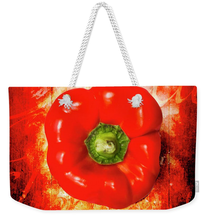 Kitchen Weekender Tote Bag featuring the photograph Kitchen Red Pepper Art by Jorgo Photography - Wall Art Gallery