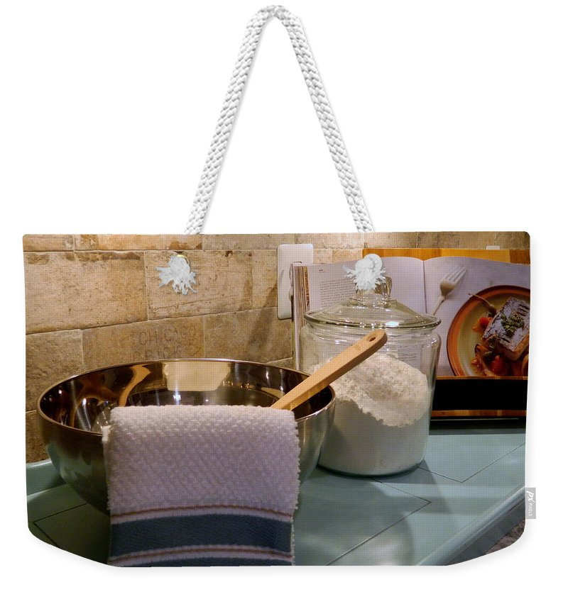 Cookbook Weekender Tote Bag featuring the photograph Kitchen Still Life by Arlane Crump
