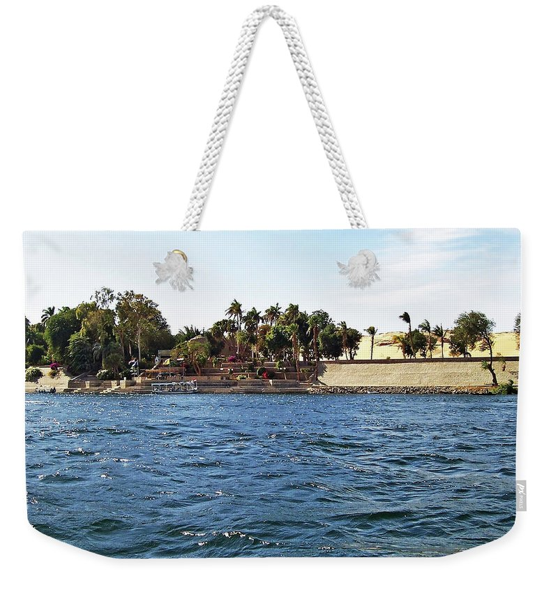 Aswan Weekender Tote Bag featuring the photograph Kitchener Island Aswan by Debbie Oppermann