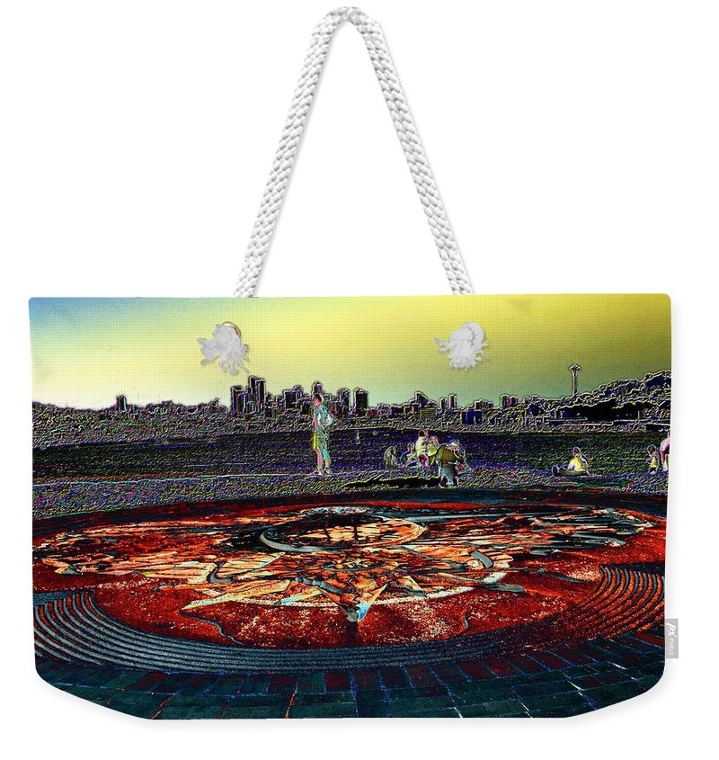Seattle Weekender Tote Bag featuring the photograph Kite Hill Sundial by Tim Allen