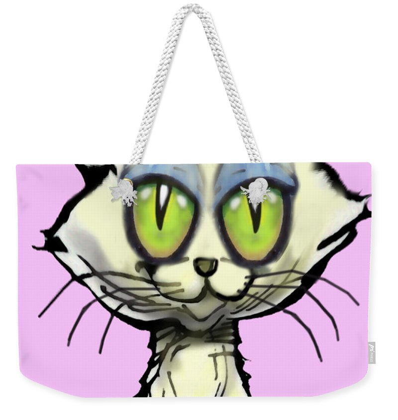 Kitten Weekender Tote Bag featuring the digital art Kitten by Kevin Middleton
