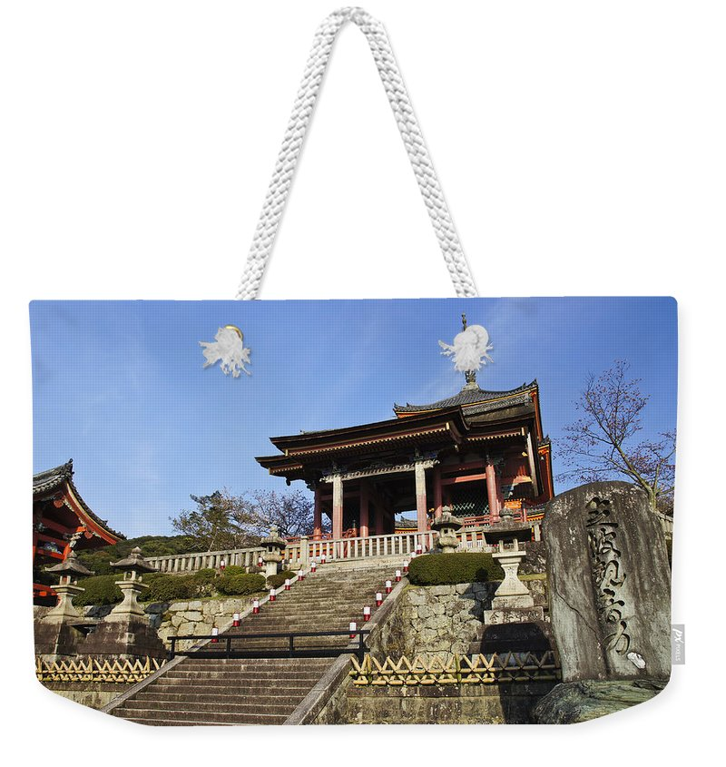 Kiyomizu-dera Weekender Tote Bag featuring the photograph Kiyomizu-dera by Brian Kamprath