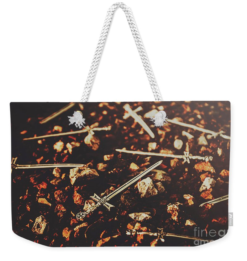 War Weekender Tote Bag featuring the photograph Knightly Fight by Jorgo Photography - Wall Art Gallery