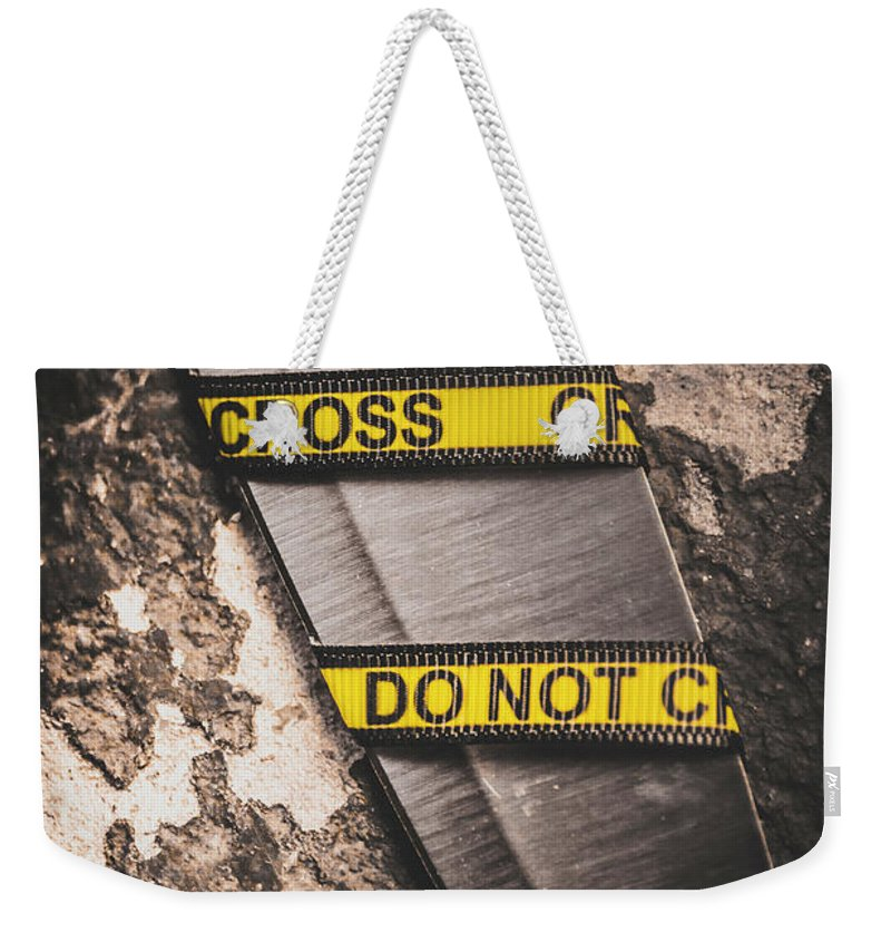Clue Weekender Tote Bag featuring the photograph Knives And Clues by Jorgo Photography - Wall Art Gallery