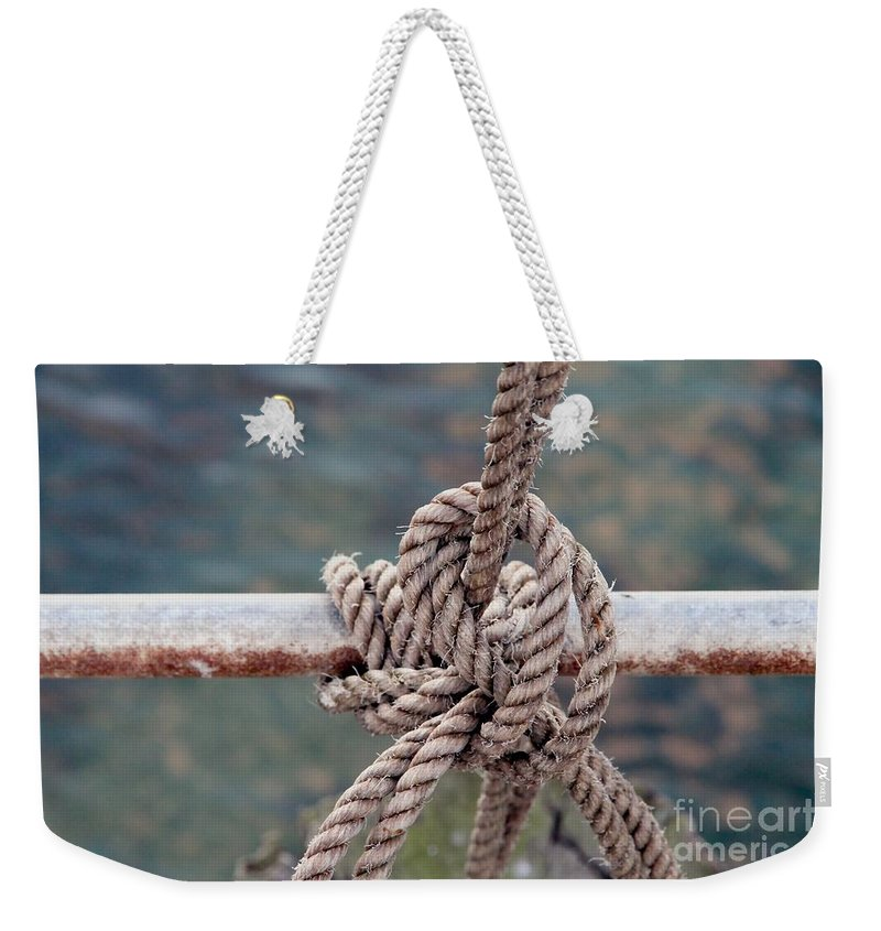 Rope Weekender Tote Bag featuring the photograph Knot Of My Warf by Stephen Mitchell