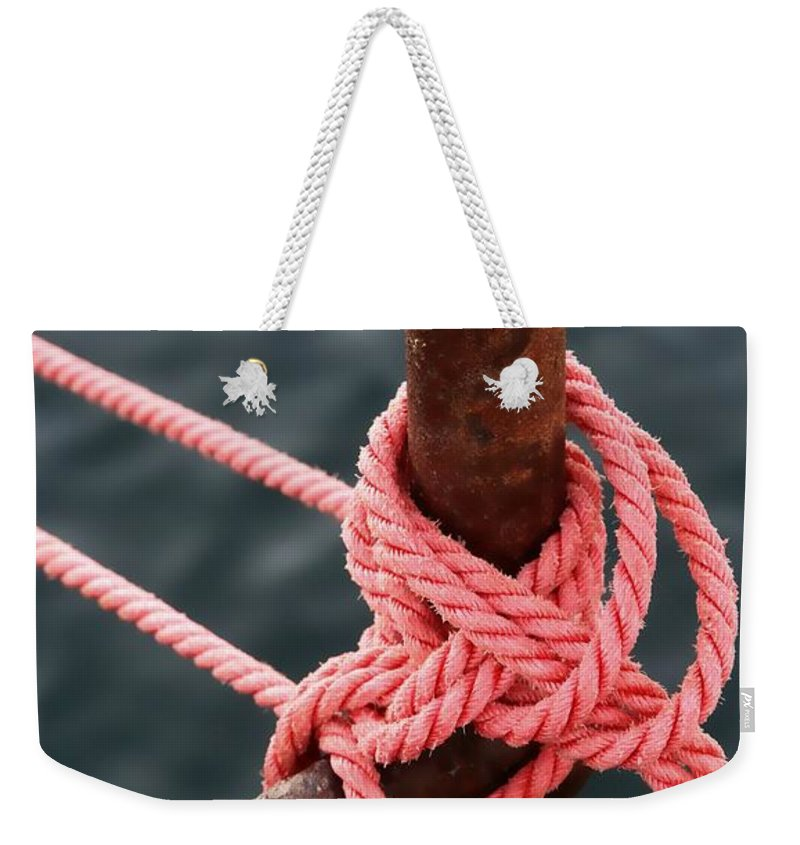 Ezcreate Weekender Tote Bag featuring the photograph Knot On My Warf IIi by Stephen Mitchell