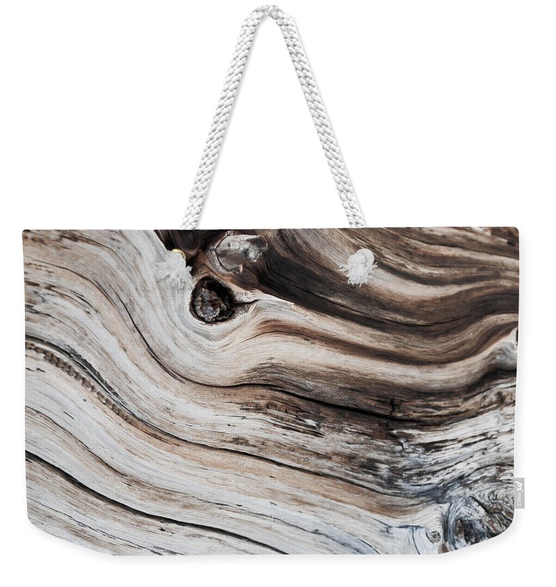Wood Weekender Tote Bag featuring the photograph Knotted by Colleen Coccia
