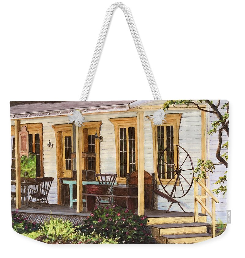 Urban Weekender Tote Bag featuring the painting Knowlton Lac Brome by Richard T Pranke