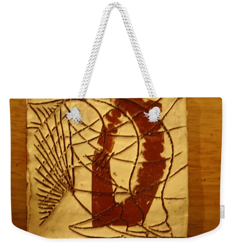 Jesus Weekender Tote Bag featuring the ceramic art Known - Tile by Gloria Ssali