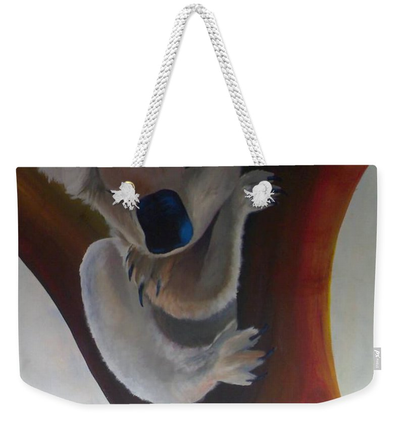 Koala Weekender Tote Bag featuring the painting Koala by Catt Kyriacou