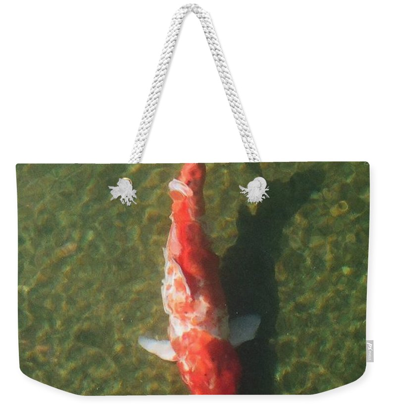 Koi Weekender Tote Bag featuring the photograph Koi by Dean Triolo