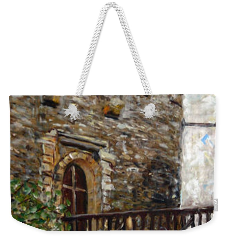Landscape Weekender Tote Bag featuring the painting Kokorin by Pablo de Choros